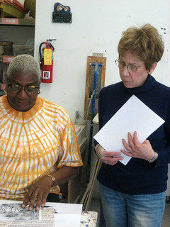 Two baby boomers participate in creative aging classes in Pelham, NY.