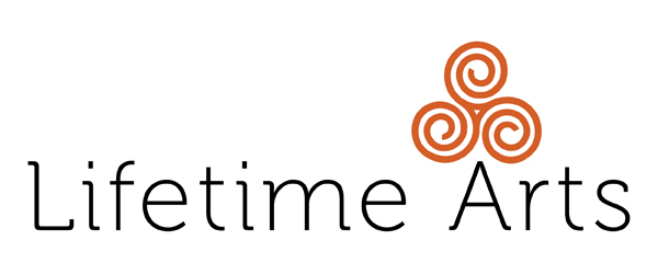 Lifetime Arts, Inc. logo, 600x240
