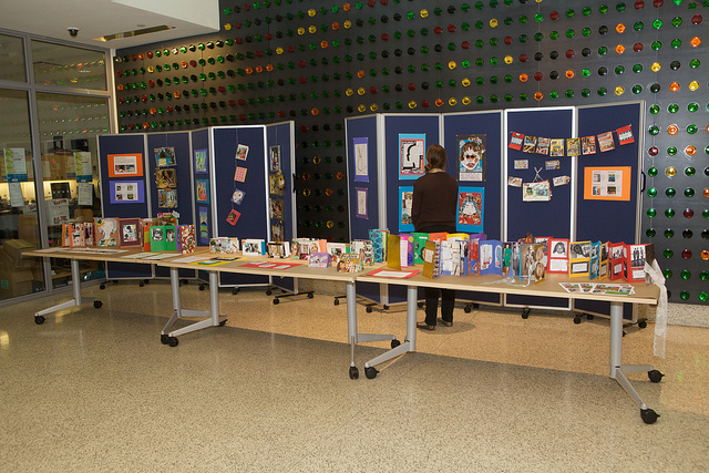 An example of a culminating event display at the Bronx Library Center. (Photo credit: Herb Scher)